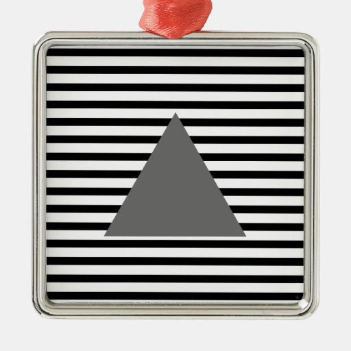 Grey Triangle Christmas Tree Ornament