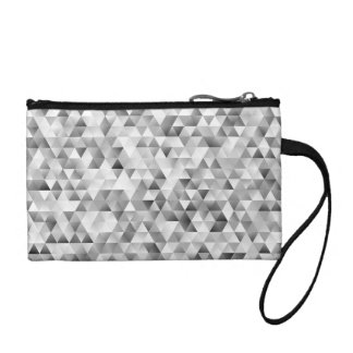 Grey triangle pattern coin purse
