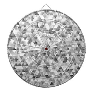 Grey triangle pattern dartboard