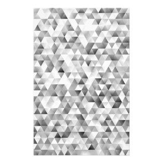 Grey triangle pattern flyer