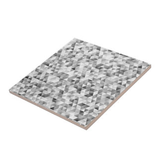 Grey triangle pattern tile