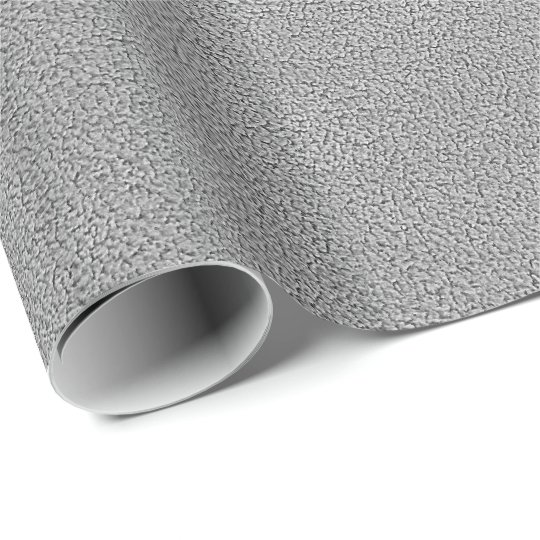 Grey Ultrasuede Look Wrapping Paper