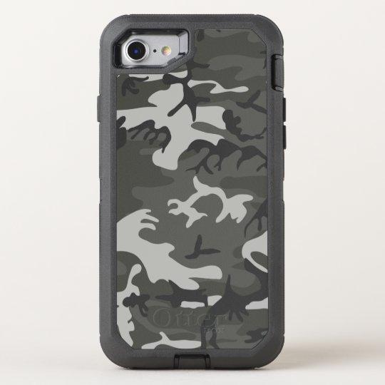 Grey Urban Camouflage Pattern OtterBox Defender iPhone 8/7 Case
