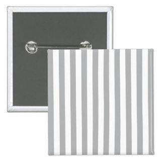 Grey Vertical Stripes 2 Inch Square Button
