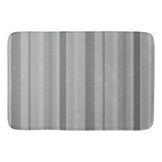 Grey vertical stripes bathroom mat