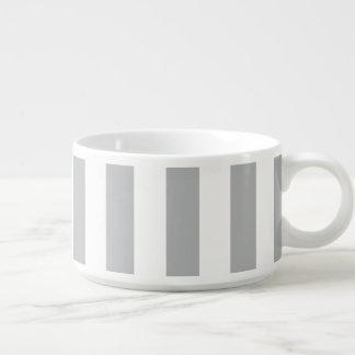 Grey Vertical Stripes Bowl
