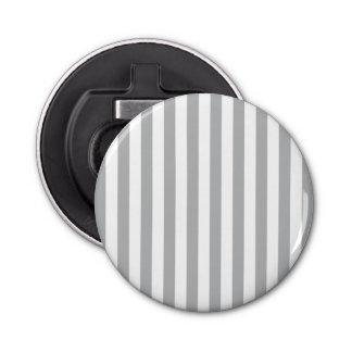 Grey Vertical Stripes Button Bottle Opener