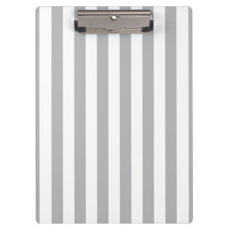 Grey Vertical Stripes Clipboard