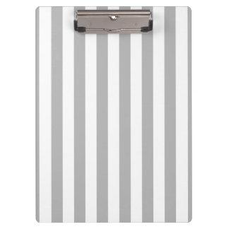 Grey Vertical Stripes Clipboards