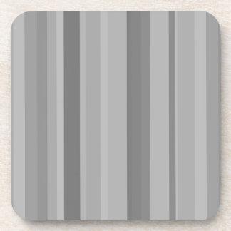 Grey vertical stripes coaster