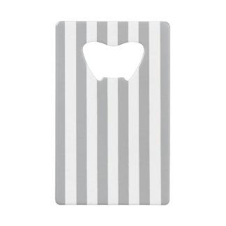 Grey Vertical Stripes Credit Card Bottle Opener