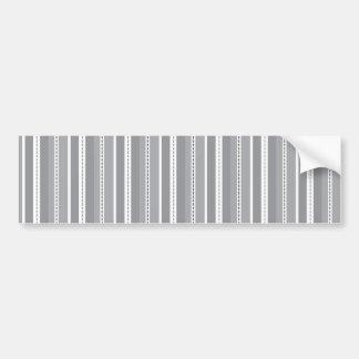 Grey Vertical Stripes Customizable Wedding Pattern Bumper Sticker