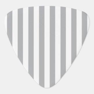 Grey Vertical Stripes Guitar Pick