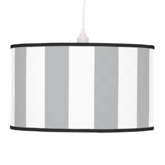 Grey Vertical Stripes Hanging Pendant Lamps