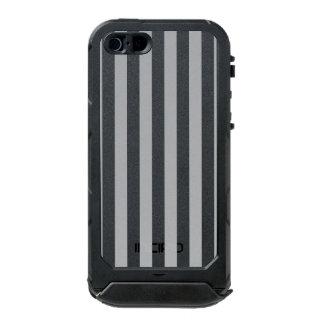 Grey Vertical Stripes Incipio ATLAS ID™ iPhone 5 Case