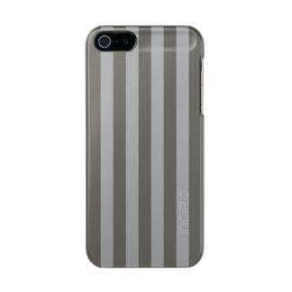 Grey Vertical Stripes Incipio Feather® Shine iPhone 5 Case