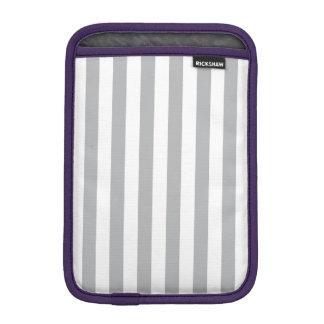 Grey Vertical Stripes iPad Mini Sleeves