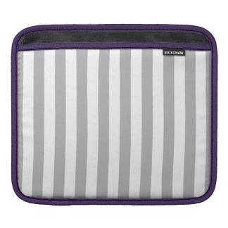 Grey Vertical Stripes iPad Sleeve