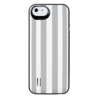 Grey Vertical Stripes iPhone SE/5/5s Battery Case