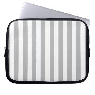 Grey Vertical Stripes Laptop Computer Sleeve