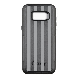 Grey Vertical Stripes OtterBox Commuter Samsung Galaxy S8+ Case