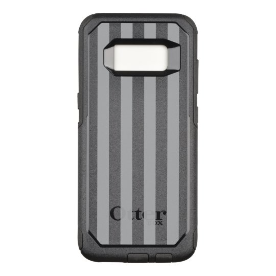 Grey Vertical Stripes OtterBox Commuter Samsung Galaxy S8 Case
