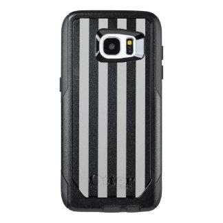 Grey Vertical Stripes OtterBox Samsung Galaxy S7 Edge Case