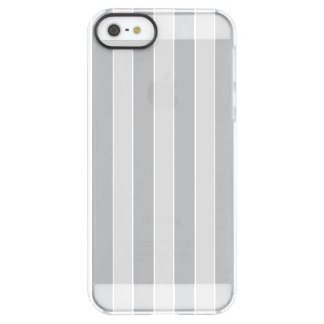 Grey Vertical Stripes Permafrost® iPhone SE/5/5s Case