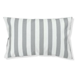 Grey Vertical Stripes Pet Bed