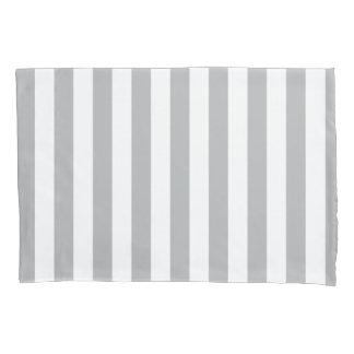 Grey Vertical Stripes Pillowcase