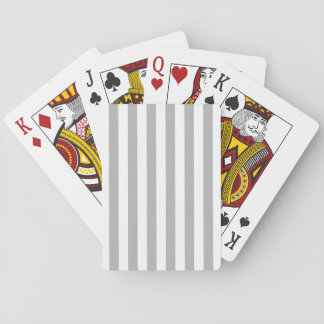 Grey Vertical Stripes Playing Cards