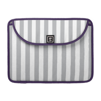 Grey Vertical Stripes Sleeve For MacBook Pro