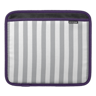 Grey Vertical Stripes Sleeves For iPads