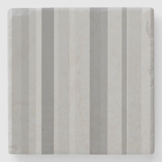 Grey vertical stripes stone coaster