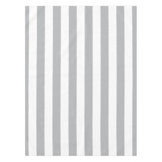 Grey Vertical Stripes Tablecloth