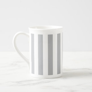 Grey Vertical Stripes Tea Cup