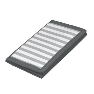 Grey Vertical Stripes Trifold Wallet