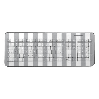Grey Vertical Stripes Wireless Keyboard