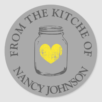 Grey vintage mason jar From the kitchen of sticker
