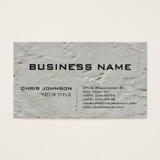 Grey Wall Trendy Stylish Consultant Business Card
