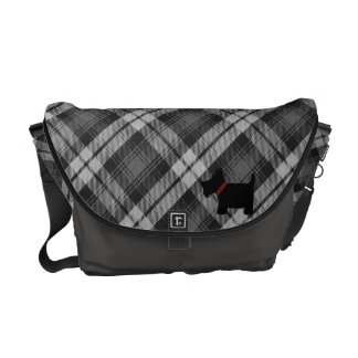 Grey Watch Tartan Plaid Pattern Messenger Bag