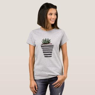 Grey Watercolor Cactus Shirt