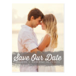 GREY WATERCOLOR SPLASH | SAVE THE DATE POSTCARD