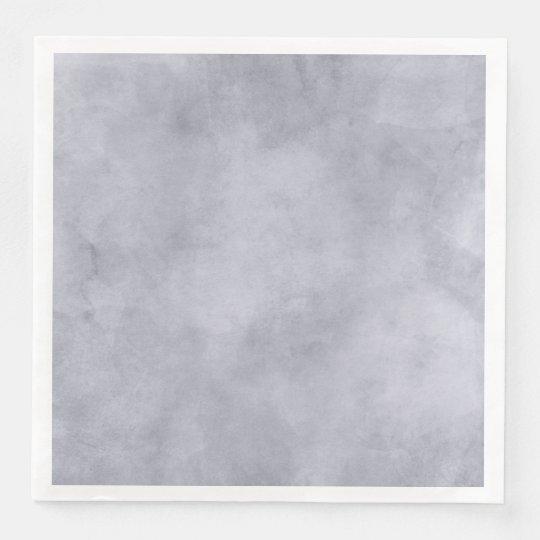 Grey Watercolor Texture Modern Elegant Wedding Paper Napkin