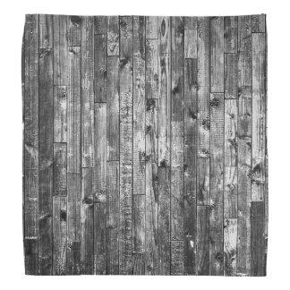 Grey Weathered Wood Wall Texture Bandanna