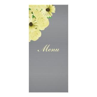 Grey Wedding Satin and Pastel Yellow - Menu