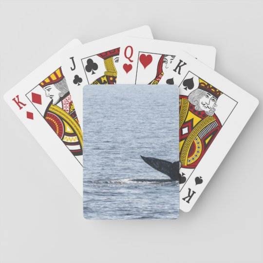 Grey Whale Tail Playing Cards