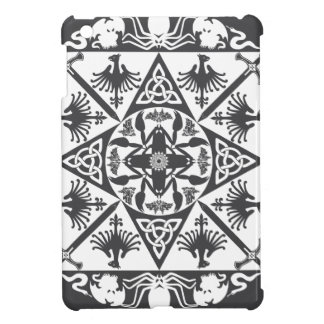 Grey White Celtic Medieval Fantasy Cover For The iPad Mini