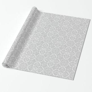 Grey & White Damask Gift Wrap
