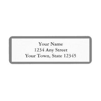 Grey & White Envelope Return Address Labels